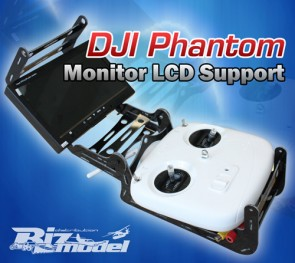 Set con supporto radio White Look Phantom  con monitor e trasmettitore Video DJI