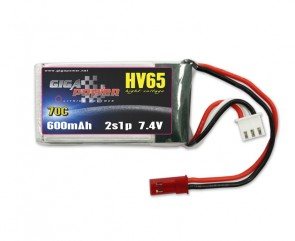 GP600HV2S GigaPower 7.4V 600mAh 70C 2cell