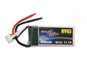 GP850HV3S GigaPower 11.1V 850mAh 70C 3cell