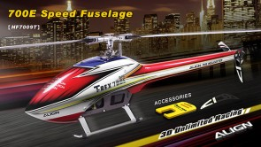 HF7009 700E Speed Fuselage - Red